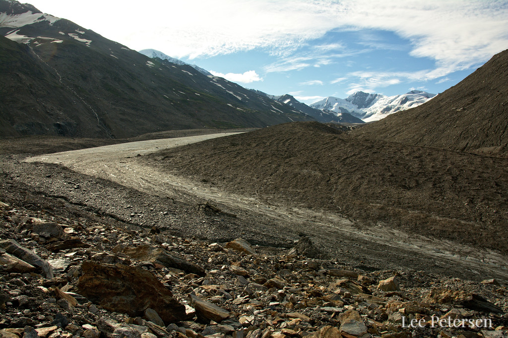 Looking up the southern M'Ladies branch on the Castner Glacier