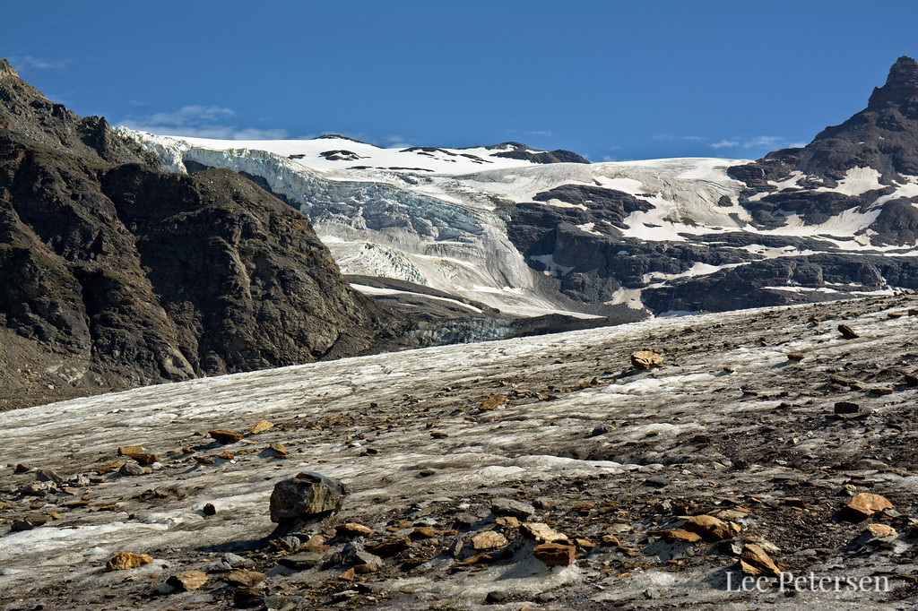 Icefall over the Castner Glacier