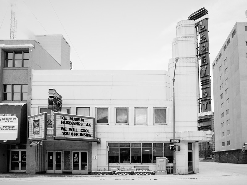 Lacey St. Theatre, now an ice museum on 2nd and Lacey. Fairbanks, Alaska