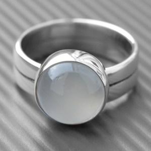Moonstone Engagement Ring