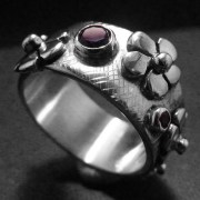 Amethyst Ring with Flowers