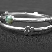 daisy birthstone bangle