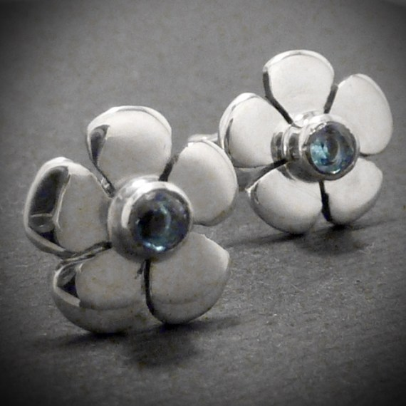 daisy topaz earrings
