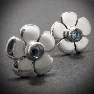 daisy topaz earrings