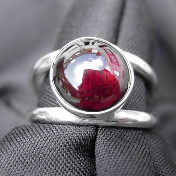 Birthstone Garnet Ring