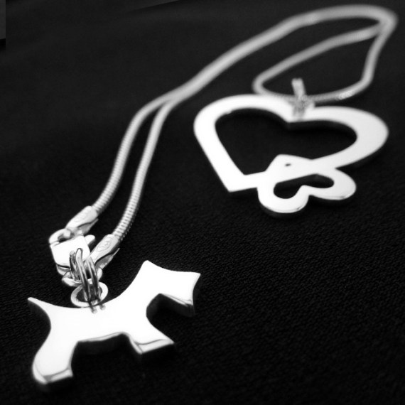 Hearts & Dog Necklace