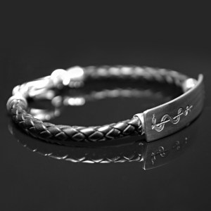 Leather ID Bracelet
