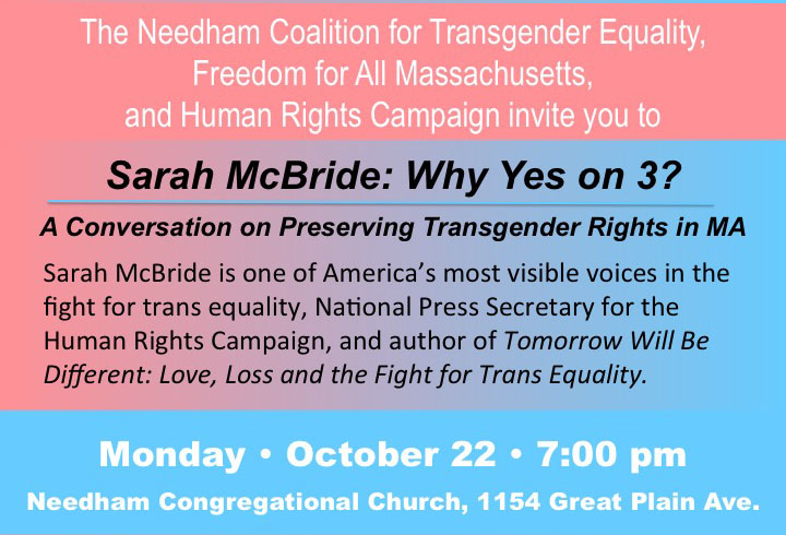 Sarah McBride: Why Yes on 3?