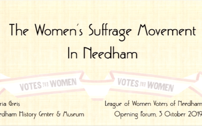 The Women's Suffrage Movement in Needham