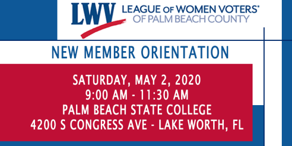 2020 New Member Orientation- MAY