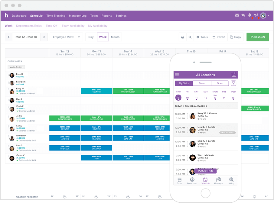 Image Result For Square Employee Scheduling
