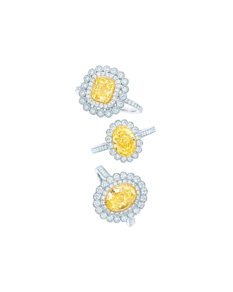 Tiffany Enchant Rings with Tiffany Yellow and White Diamonds