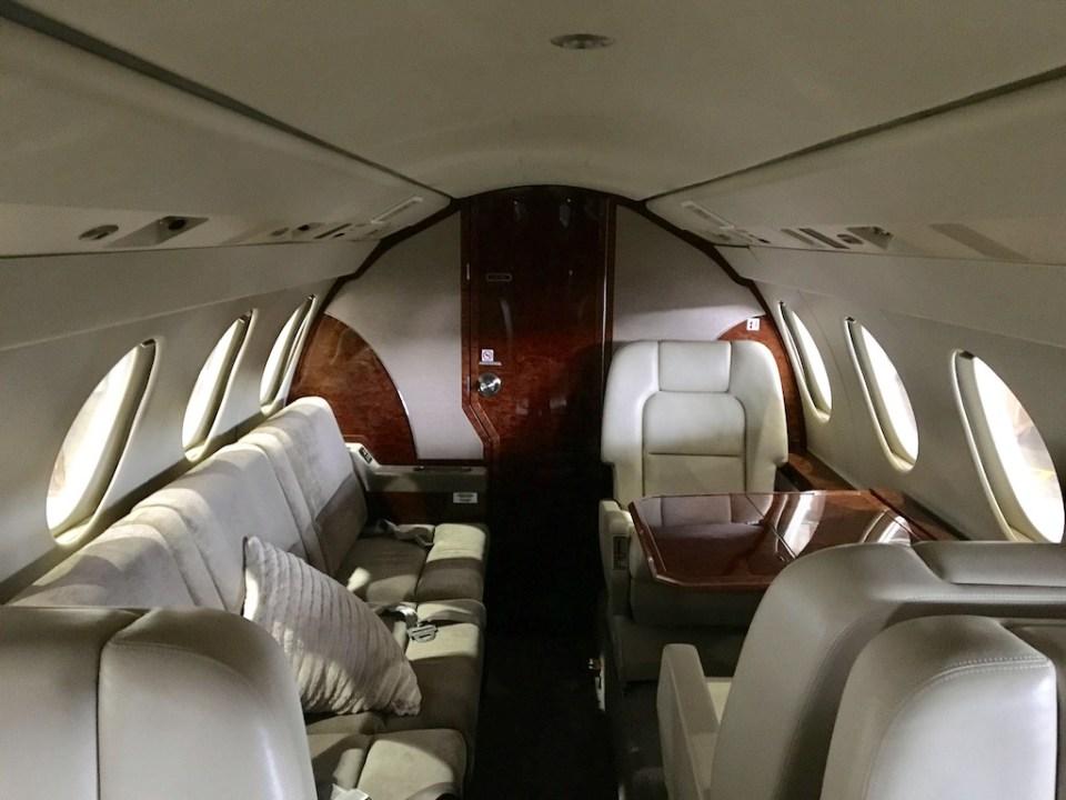 chrono aviation charter jet montreal falco 5oex interior