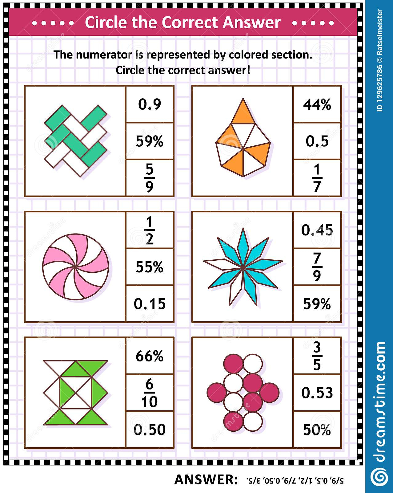 Math Skills And Iq Training Visual Puzzle Or Worksheet For