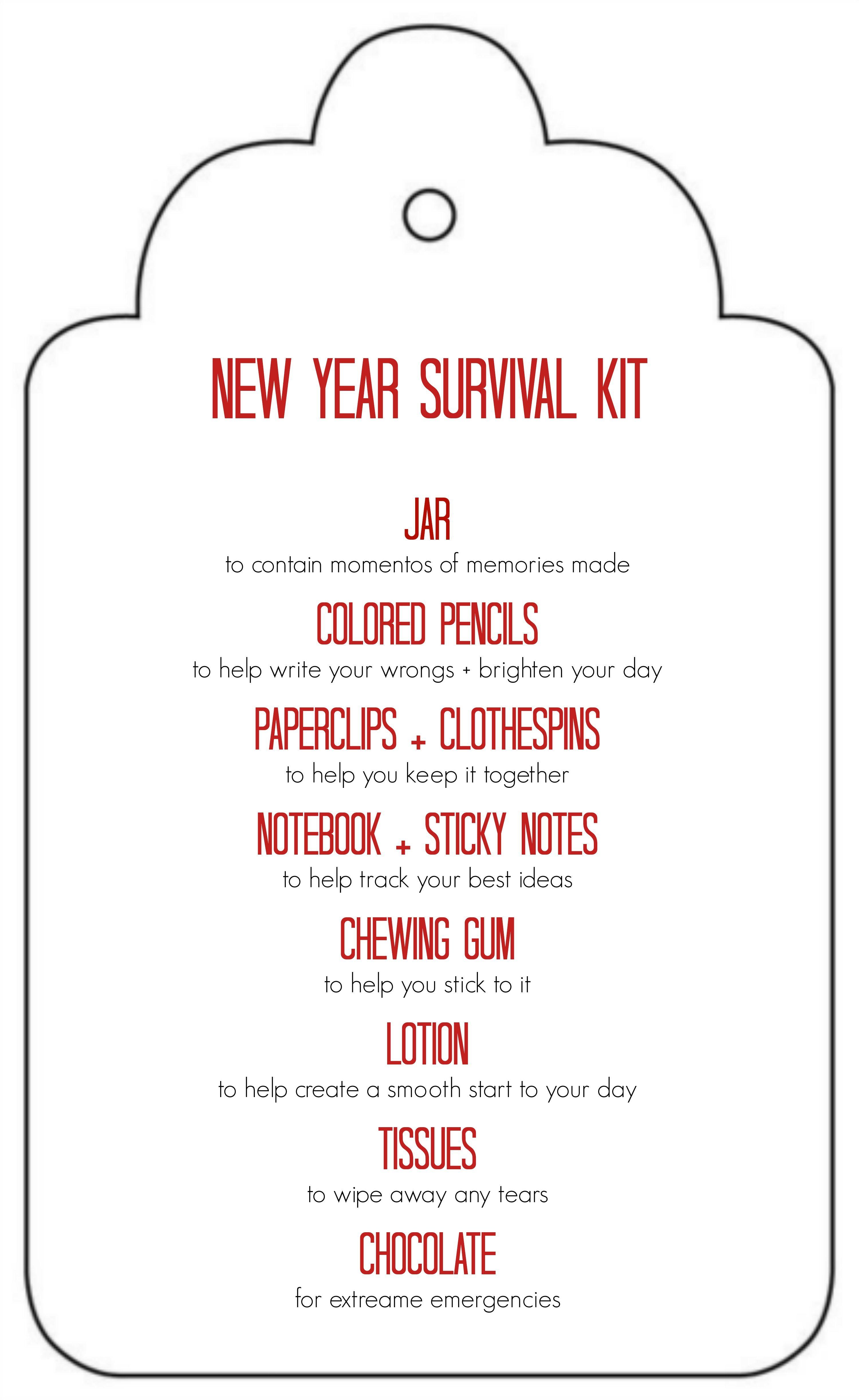 Teacher Survival Kit Free Printable