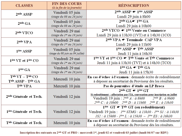 Calendrier reinscriptions2015