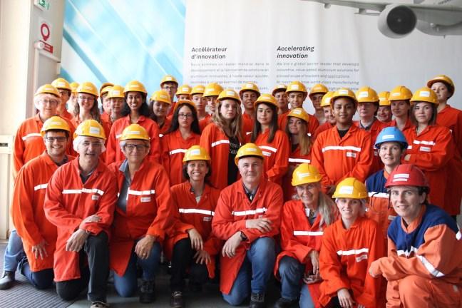 Les participants au projet Materials Explorers à Clermont-Ferrand, en juin 2017