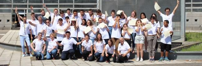Les participants au projet Materials Explorer au Lycéee La Fayette en juin 2017