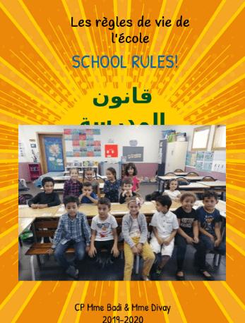 Projet autour des règles de vie de l'école en Classe Internationale CP