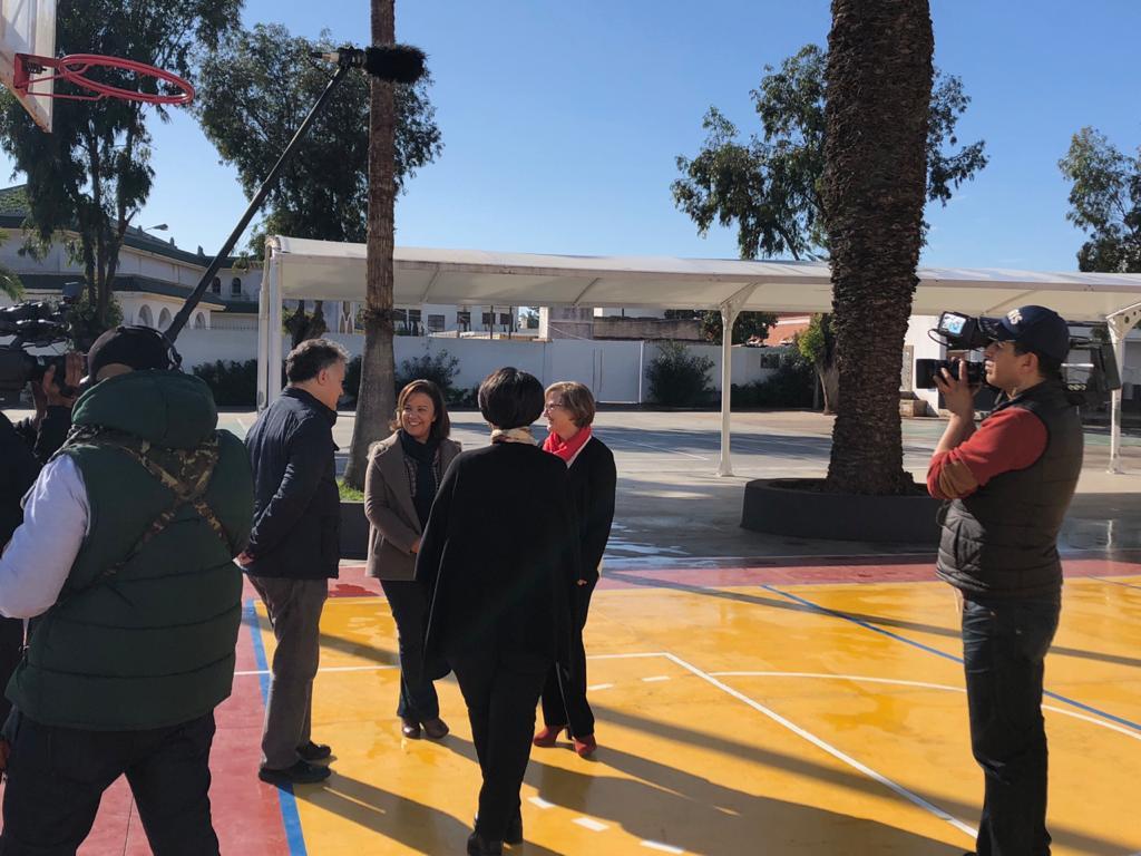Fouad Laroui, dans son ancienne école