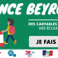 Solidarité Beyrouth : des cartables pour les élèves des écoles publiques !
