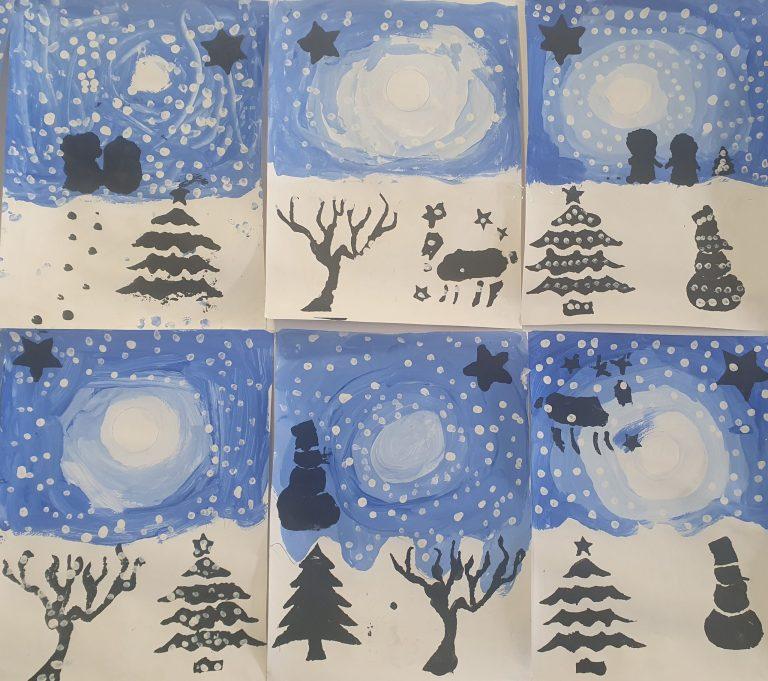 Arts Plastiques : Paysages d'hiver