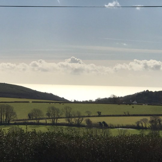 silver sea views at Lydcott Glamping, Cornwall