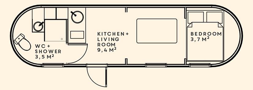 The Pasty floorplan