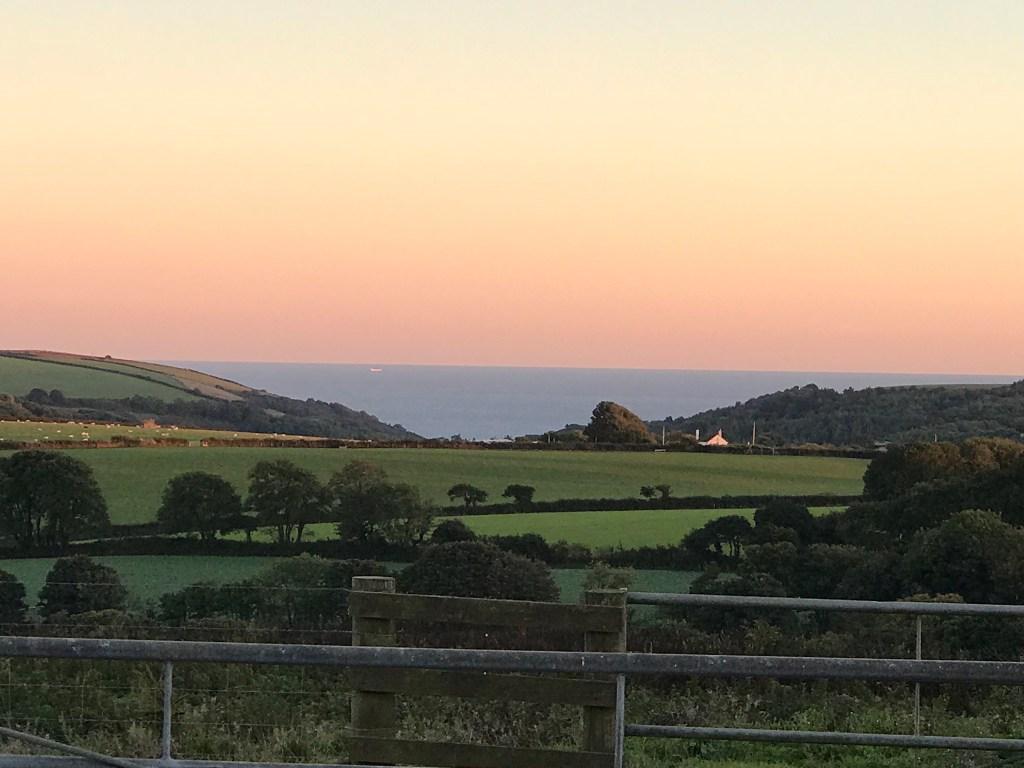 sea views from Lydcott Glamping Cornwall