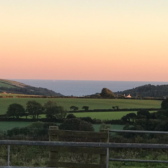 sea views from Lydcott Glamping Cornwall