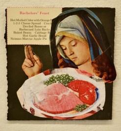 """Bachelor's Feast,"" Mixed media, 2013"