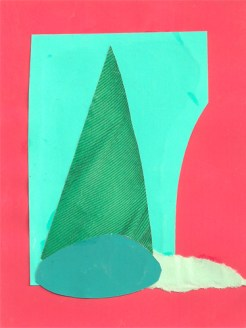"""""""Untitled (pink & green),"""" collage, 2012"""