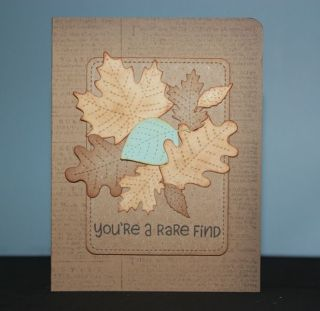 Lawn Fawn - Stitched Leaves and Stitched Journaling Card Lawn Cuts, Yeti, Set, Go (sentiment) beautiful card by Niki