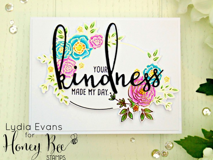 Honey Bee Stamps Country Blooms, Kindness_1
