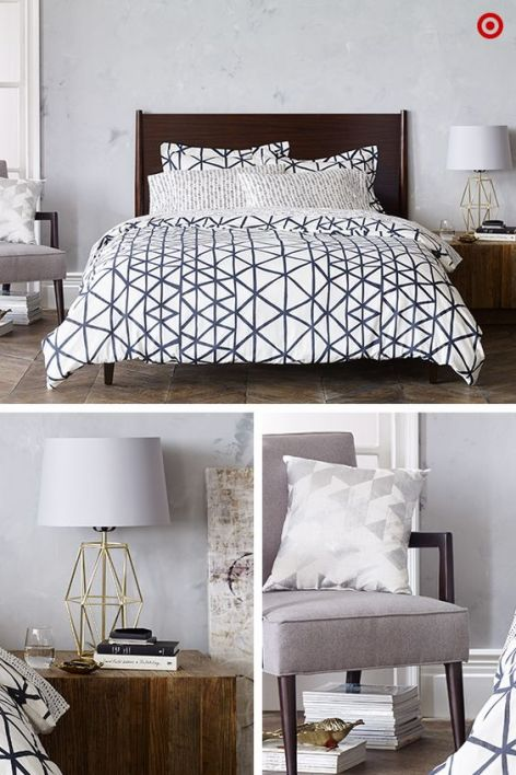 A bold impact. A bedset really adds interest and style
