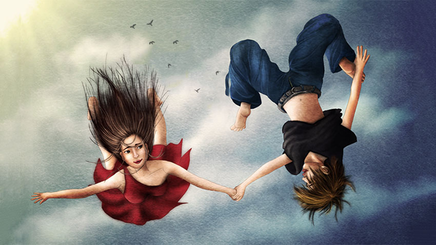 Lydia Kurnia digital artwork - Free Falling