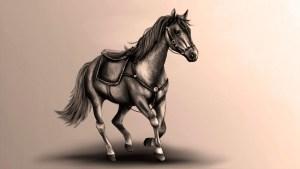 Lydia Kurnia digital artwork - Horse
