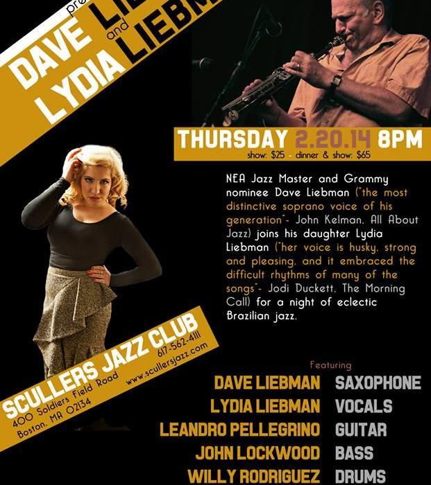 Lydia Liebman & Dave Liebman 2/20/15