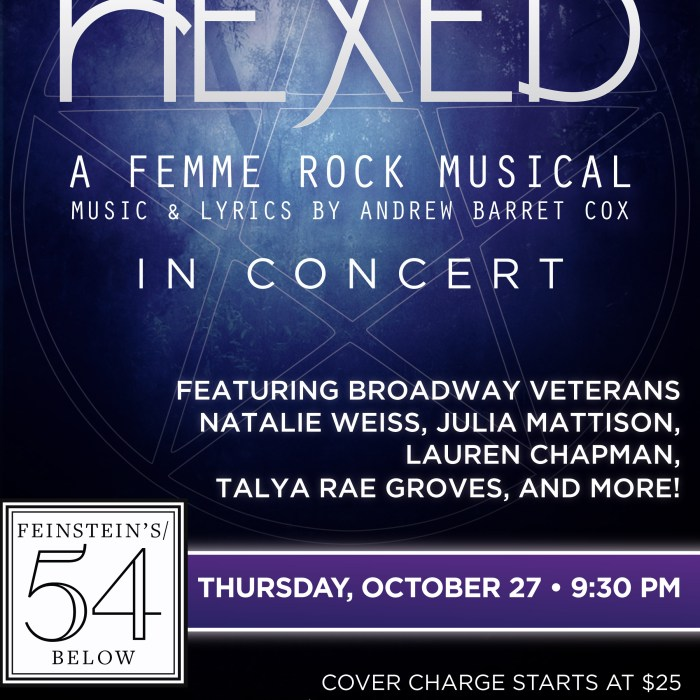 Hexed, 54 Below, 10/27/16