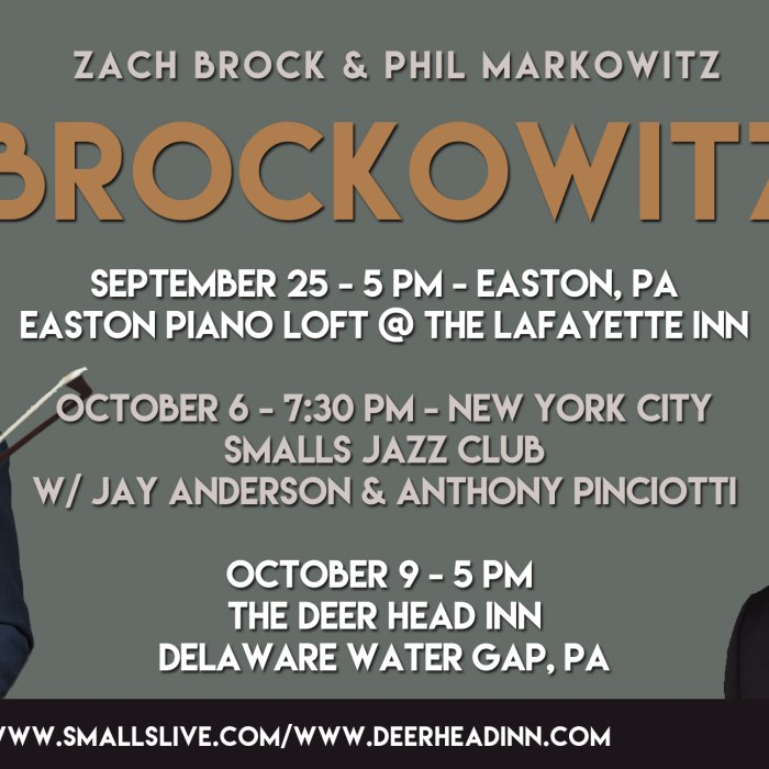 3 Nights of Brockowitz, 9/25-10/9