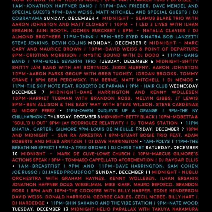 Nublu Jazz Festival, 12/1-12/16