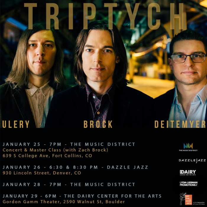 Triptych, Boulder, Denver and Fort Collins, CO 1/25/2017 – 1/29/2017