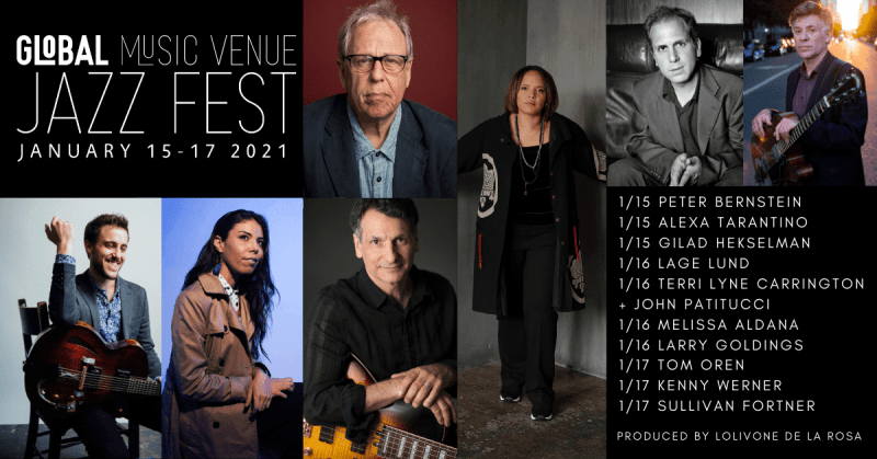 ANNOUNCEMENT: Global Music Venue's Upcoming Jazz Fest, January 15-17, 2021 – JazzIz