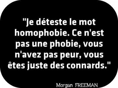 Citation homophobie Morgan Freeman. Personnages LGBTQIA+
