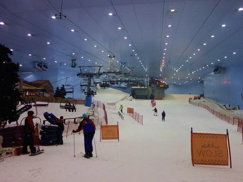 View inside of the ski slope before we head up the ski lift