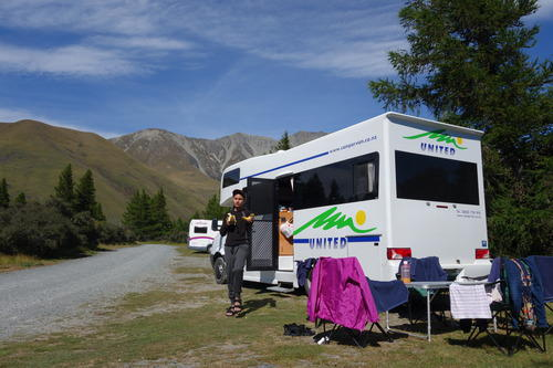 Renting a campervan/ caravan to get around isn't the cheapest way to cover New Zealand, but it is definitely a must try. We got ourselves a 6 berth campervan carrying our entire troop's 15 days worth of bags.