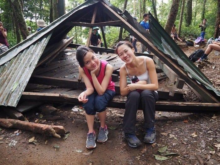 mount rinjani trek - Rest point along our mount rinjani hike