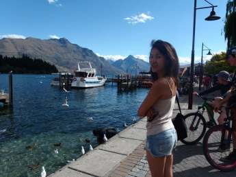 Enjoy the breeze by the harbour even in the city of Queenstown, New Zealand