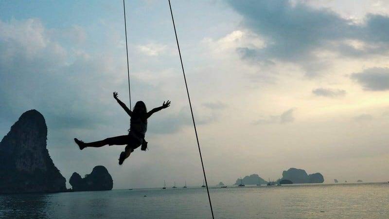 Rock climbing in ktabi thailand