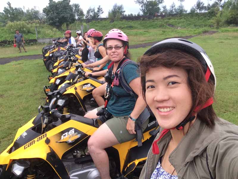 Group Shot before we speed off towards the Mayon Volcano. Ready to start our Adventure ATV Tour! outdoor adventure in bicol region